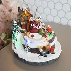 크리스마스 산타마을 LED 오르골 (NORTH)
