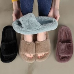 kami et muse Rich fur comfort slippers_KM19w138