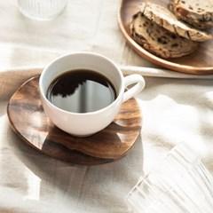 화이트 튤립라인 커피잔