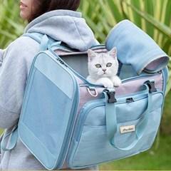 트루러브 TLX2971 강아지&고양이 캐리어 이동가방 (블루)