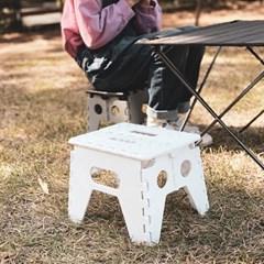 모던 접이식 간이 의자 발디딤대 캠핑의자 2컬러_(1420878)