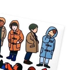 겨울 스티커 - boys