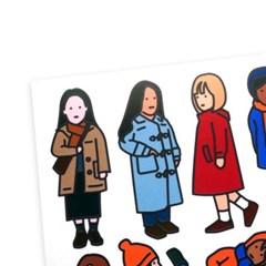 겨울 스티커 - girls