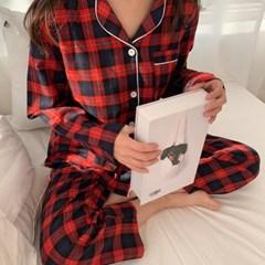 [크리스마스 선물] 웨스턴 체크 커플 잠옷 파자마