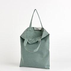 패턴 미니 에코백 - mint check