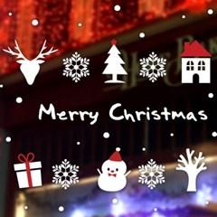 크리스마스 시트지 눈꽃 스티커 19CMJS5252_(992255)
