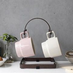 국내산 디몬 철제 4P 머그잔 걸이 - 4color