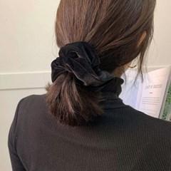 [3 color] 스크런치 벨벳 곱창 머리끈