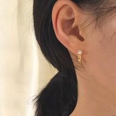 [925실버 원터치 귀걸이] 라망 이어링