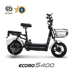 AU테크 에코로 S400 48V 12Ah 14인치 전기/전동스쿠터 화이트