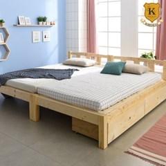 세이퍼 원목 서랍형 패밀리 침대 프레임  SS+SS (매트제외)