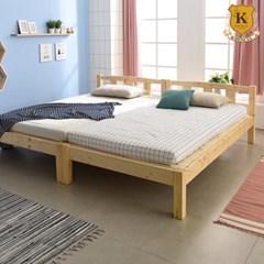 세이퍼 원목 패밀리 침대 프레임  SS+SS (견양면매트)