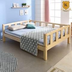 세이퍼 원목 침대 프레임  Q+견양면매트