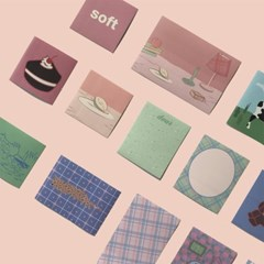 [뮤즈무드] soft vintage muse mood sticker pack