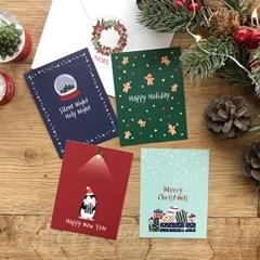 해피크리스마스 카드묶음 (카드7장+봉투7장)