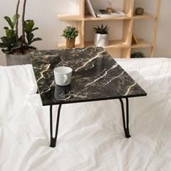 심플리 블랙골드마블 테이블(중/대) 다용도 접이식 책상 공부상