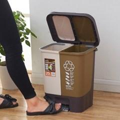20리터 분리형 재활용함 쓰레기통
