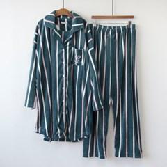 P8544 울트라 극세사 원피스형 잠옷세트(2color)