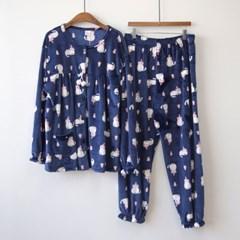 P8546 울트라 극세사 여성용 잠옷세트(3color)