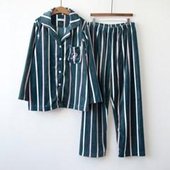 P8548 울트라 극세사 줄무늬 여성용 잠옷세트(2color)