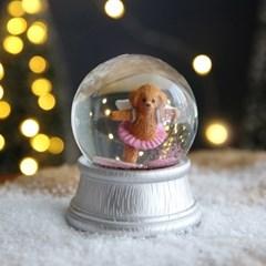 크리스마스 펫 스노우볼 동물 워터볼 M - 발레리나 개 - 막스(MARKS)