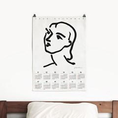 2020 패브릭 포스터 벽걸이 디자인 대형 달력 마티스 no.2