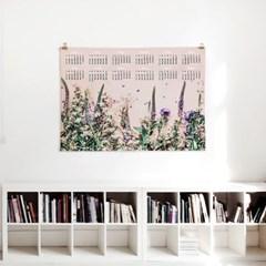 2020 패브릭 포스터 벽걸이 디자인 보타니컬 달력 들꽃