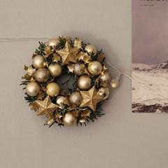 겨울밤에 별이반짝 크리스마스리스 장식 [3color]_(684007)
