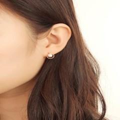 살롱 드 라템 서클 진주 귀걸이_로즈골드(AGIS9C09BBPW)