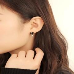 살롱 드 라템 트윙클 하트 귀걸이_블랙(AGIS9C12TBJB)
