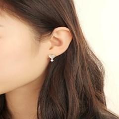 살롱 드 라템 트윙클 하트 귀걸이_화이트(AGIS9C12TBJE)