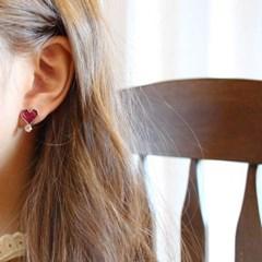 살롱 드 라템 트윙클 하트 귀걸이_와인(AGIS9C12TBJD)
