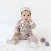 [메르베] 베이지마우스 신생아 아기내복/내의/유아실내_(1361412)
