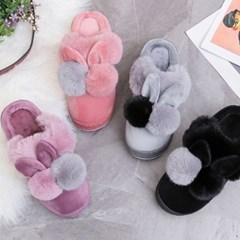 kami et muse use Drop top tall up fur slippers_KM19w153