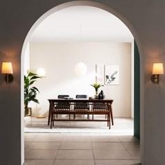 [채우리] 나스르 원목 6인 식탁 세트(의자/벤치)
