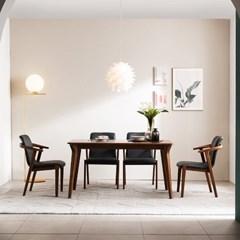 [채우리] 나스르 원목 4인 식탁 세트(의자)