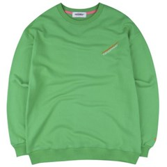 [COVERMENT] Diagonal Logo Over-Fit Sweatshirts_Green