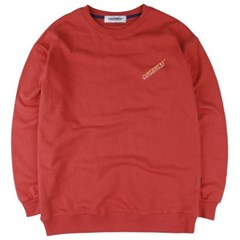 [COVERMENT] Diagonal Logo Over-Fit Sweatshirts_ORANGE