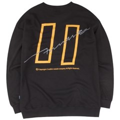 [COVERMENT] Signature Graphic Over-Fit Swatshirts_Black