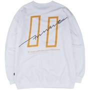 [COVERMENT] Signature Graphic Over-Fit Swatshirts_White
