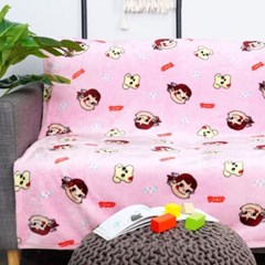 페코짱 극세사 패턴 담요이불 블랭킷 핑크 200x150_(1214764)