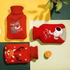 히카리 크리스마스 보온 보냉 물주머니 찜질팩 1L/2L