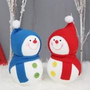 [데코봉봉]방울모자 눈사람 2P세트(블루+레드)