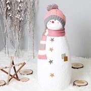 [데코봉봉]길쭉이 털모자 눈사람(80cm핑크)