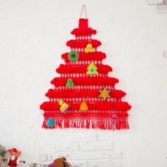 크리스마스 트리배너 레드(M)+오너먼트세트