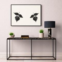 패브릭 캔버스 포스터 추상화 거실 그림 인테리어 액자 수채화 리프A