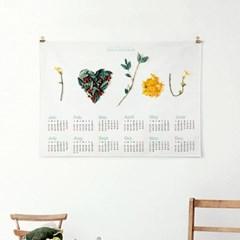 2020 패브릭 포스터 감성 디자인 식물 달력 아이 하트 유