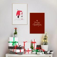 크리스마스 장식 소품 포스터 그림액자 겨울 인테리어