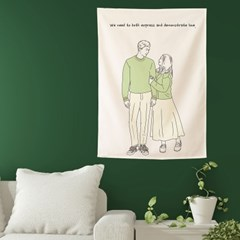 드로잉 패브릭포스터 주문제작 결혼 선물