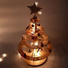 포코 자작나무 크리스마스 원목 트리 원형, 사각형
